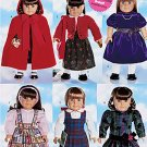 "AMERICAN GIRL 18"" DOLL WARDROBE BUTTERICK 5110 PATTERN + KNITTING MINT UNCUT"