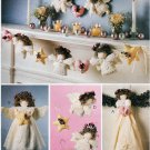 ANGEL TREE TOPPER WALL HANGING ORNAMENTS GARLAND MCCALLS 9445 AUNCUT
