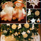 CHRISTMAS SNOWMAN, ORNAMENTS, ANGEL, TREE SKIRT +  BUTTERICK 3682 PATTERN UNCUT