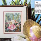 CROSS STITCH PINKY BUNNY. CAT AFGHAN GARDENIA EASTER JAR LIDS LOVE MAG. MAY '92
