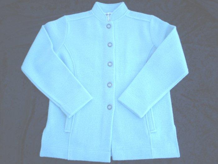 Norm & Thompson Blue Wool Boiled Jacket Cardigan NWOT S