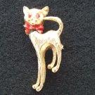 Ruby Eye Cat ANIMAL PIN BROOCH fr Japan  MINT