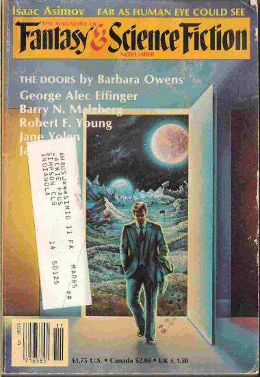 Fantasy and Science Fiction; Nov 1984