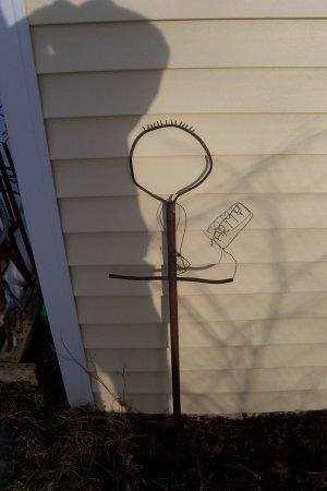 Joey the Army man   copper yard art