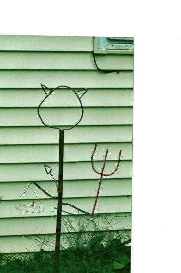 Devil   copper yard art