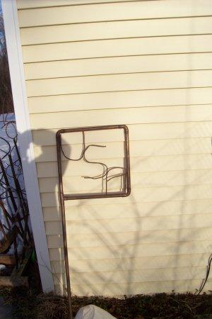 copper flag  copper yard art