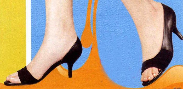NLW-VAN Black Open Toe Shoes
