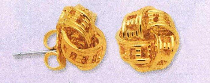AA-GKE Gold Tone Earrings