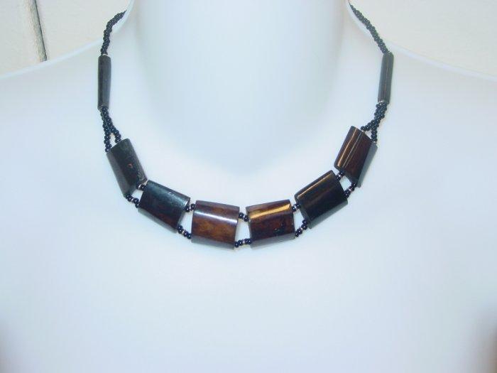 Handmade Ebony Choker- Bronze