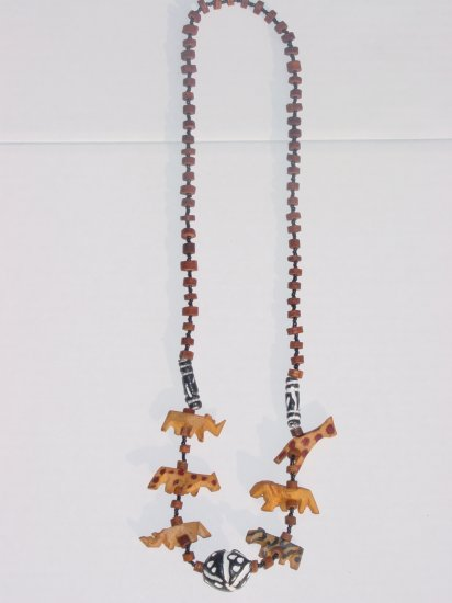 Handmade Wooden Animal Necklace- Wood Bead