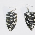 Hand Painted Shell Earrings- Peahen