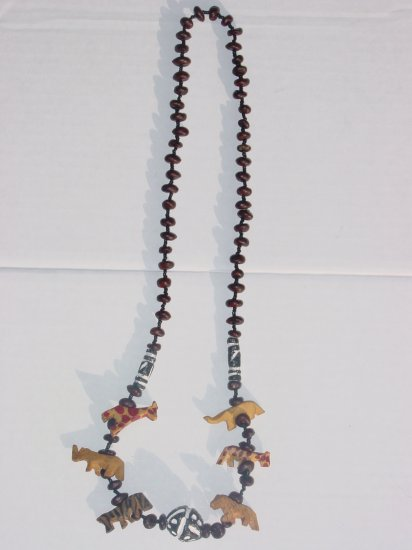 Handmade Wooden Animal Necklace-Coconut Bead