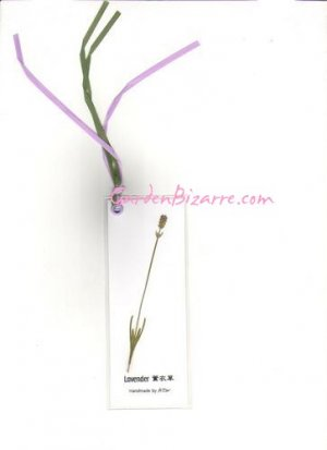 Lavender Pressed Flower Bookmark -  Free Shipping
