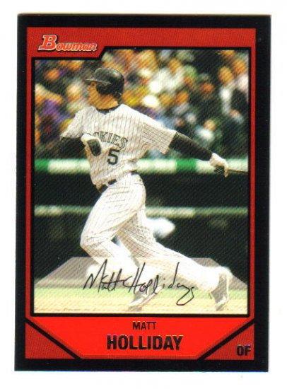 MATT HOLLIDAY - 2007 Bowman #189