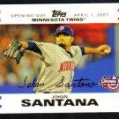 JOHAN SANTANA - 2007 Topps Opening Day GOLD #0922/2007