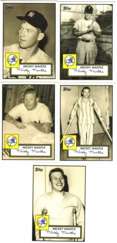 MICKEY MANTLE - 2007 Topps MMStory Lot of 5