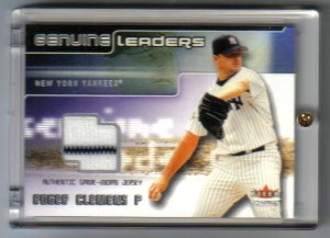 ROGER CLEMENS - 2002 Fleer Game-worn - DUAL COLORED JERSEY