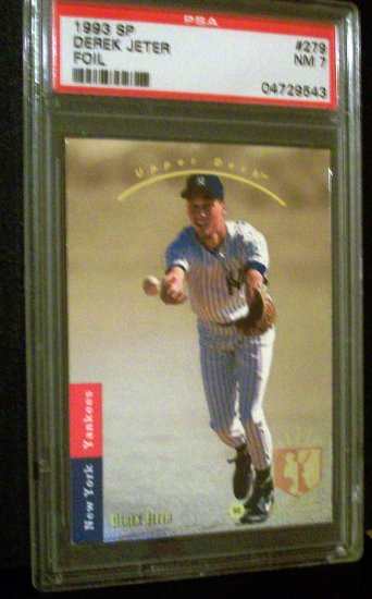 DEREK JETER - 1993 SP Foil Rookie Card#279 - PSA 7 NM