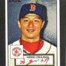 HIDEKI OKAJIMA - 2007 Topps 52 - Red autograph - 29/52 RARE -  BV$150.00