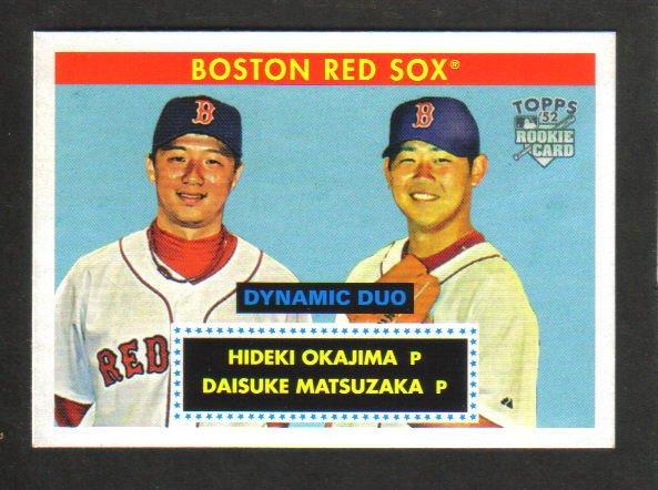 """2007 Topps """"52"""" - Matsuzaka/Okajima - Dynamic Duo - Rookie Card"""