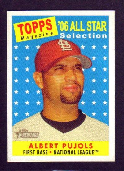 ALBERT PUJOLS - 2007 Topps Heritage All Star #476