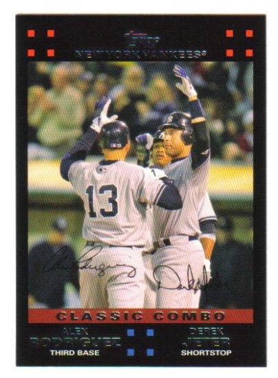 "ALEX RODRIGUEZ and DEREK JETER - 2007 Topps ""Classic Combo""  #657"