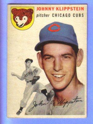 JOHNNY KLIPPSTEIN - 1954 Topps #31 - Chicago Cubs Pitcher