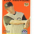 TROY TULOWITZKI - Colorado Rockies -2007 Topps Heritage Rookie card