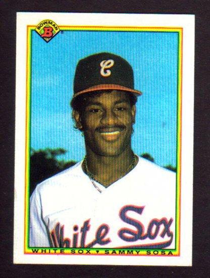 SAMMY SOSA - 1990  Bowman Rookie Card