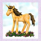Magical Unicorn in a Flower Garden Notecards