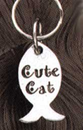 Cute Cat Tag Fish Shaped---On Sale!!