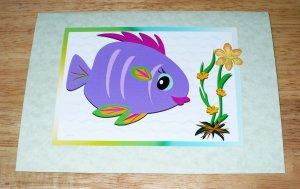 Original Cards of Marine Fish and Plants