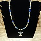 Silver Angel with Glass Beads Necklace