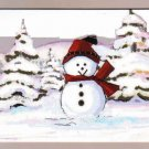 Smiling Snowman Greeting Card