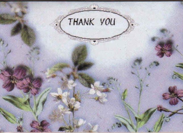 Flower Print Thank You Card
