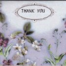 Flower Print Thank You Card