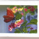 Handpainted Butterflies and Flowers Notecards