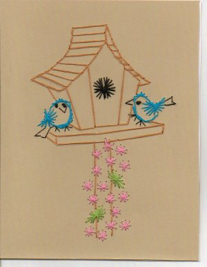 Crafty Bird House Greeting Cards