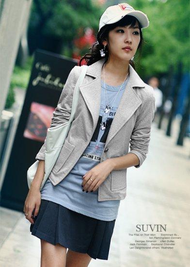 Smart Casual Grey Coat C0401KP