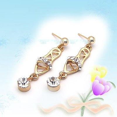 Unique Shiny Slippers Earrings E041823
