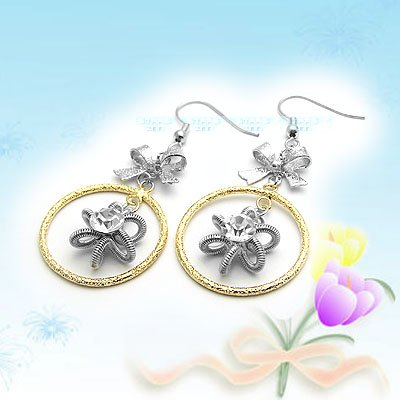 Large Shiny Korean Fashion Earrings E041113