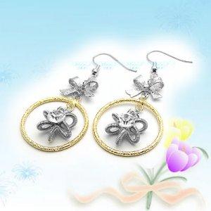 Large Shiny Korean Fashion Earrings E041113