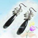 韩国Nayemoa风格*永恒的经典色*白色珍珠长款水滴耳环