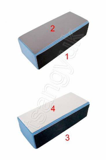 2x 4 Way Nail Smoother Polish Buffer Block