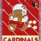 Arizona Cardinals NFL Triple Woven Jacquard Throw ( Babby Series ) 36*48