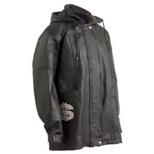 Giovanni Navarre Pebble Grain Genuine Leather Jacket