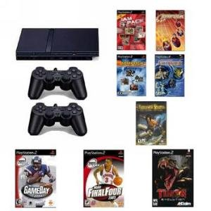 Playstation 2 Smaller & Slimmer Network Ready With Sports Bundle