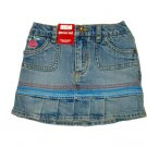 Girl`s Pleated Bottom Denim Skort