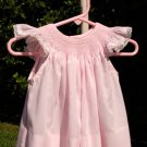 Flirty in Pink Handmade Smocked Little Girls Dress