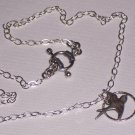 CIRCLE Silver Sparrow Bird Necklace and Sterling silver Chain FREE SHIPPING TO THE U.S.